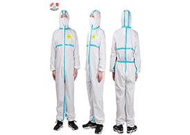 浙安B款:PU抗菌涂层面料防护服